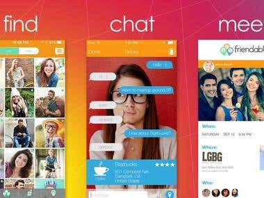 Find, Chat, and Meet -Friendable Free(Android & iPhone)