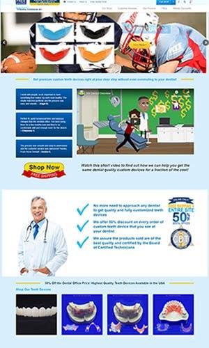 eCommerce website development - DIY Dental