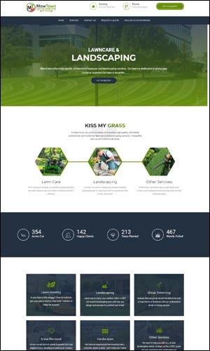 WordPress Website Development - MowTown Lawn & Landscaping