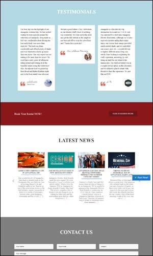 Boat Rental Website With Custom Reservation System - AEBR