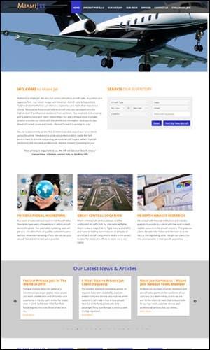 Aircraft Inventory Website Design - Miami Jet