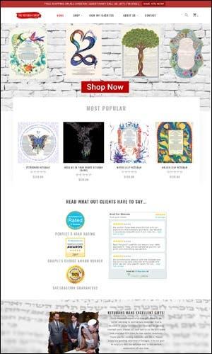 eCommerce Website Development - The Ketubah Shop