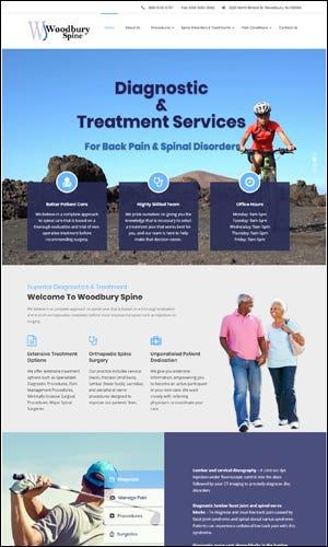 Surgeon Website Development - The Woodbury Spine