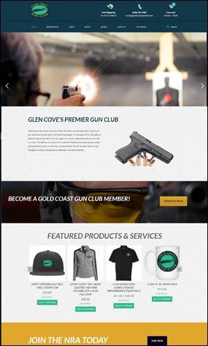 Gun Club Website Development - Gold Cost Gun Club
