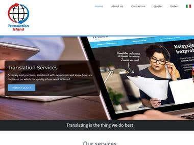 Wordpress translation service website