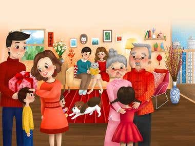 Children's book: Chinese New Year