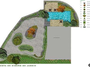 Garden Design/Diseño de Jardín