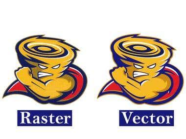 Raster to vector logo.