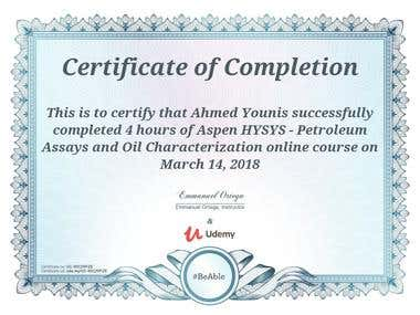 Hysys Certification