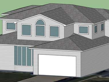 Sketchup houses
