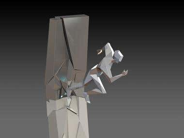 Sheet metal 8 meters sculpt