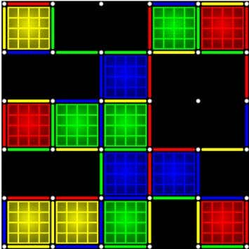 Dots and boxes neon 2018