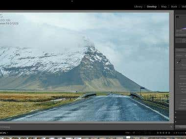 Photo retouching in Lightroom