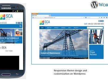 Company website- Wordpress