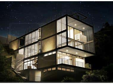 Residential project visualization.