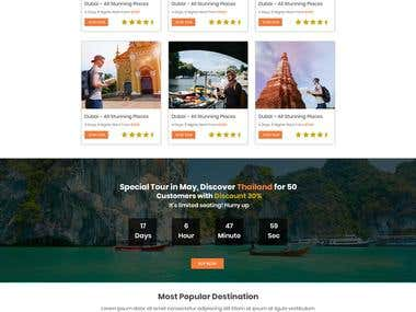 Tour & Travel Website Mockup