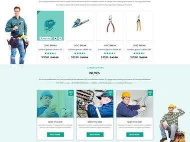 Service Provider Website Mockup