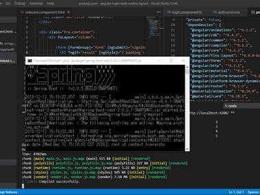 Angular6(Material Design) + Java Spring Boot