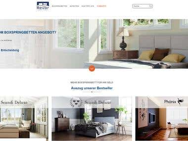 Website for German mattress company