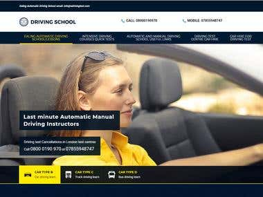 Website for UK Driving School