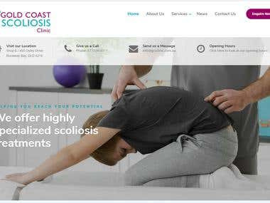 Australia Gold Coast Scoliosis clinic website