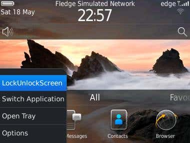 App to lock screen rotation in Blackberry phone