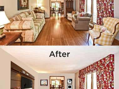 Virtual Staging of Room Picture