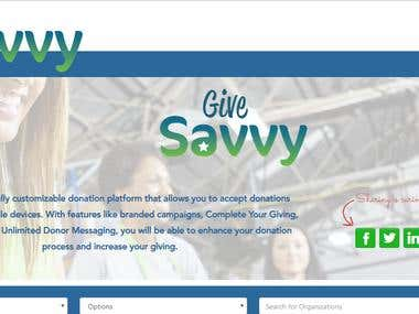 Give Savvy is a fully customizable donation platform