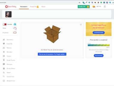 SmartDating - Tinder Clone / Social network Platform