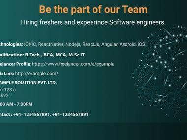 Banner design for Human Recruitment