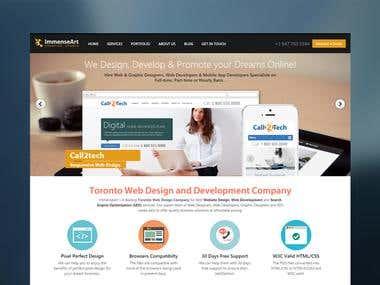 Website design including some graphic design work.