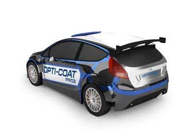 3D model of a Ford Fiesta WRC