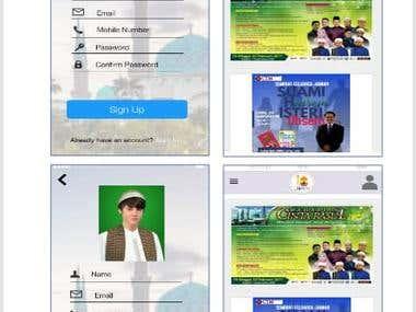 Intarface of Rakan Masjid mobile application