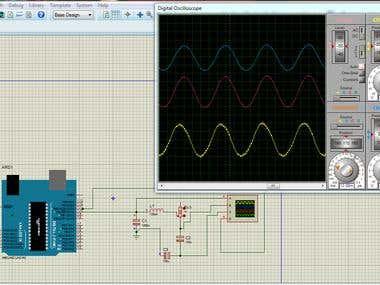 Arduino based sine wave generator.