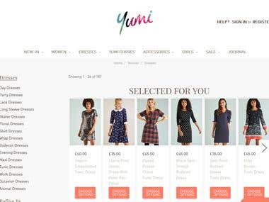 Woments clothing online store