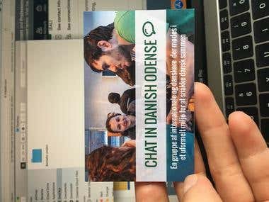 Business card for International Community Odense