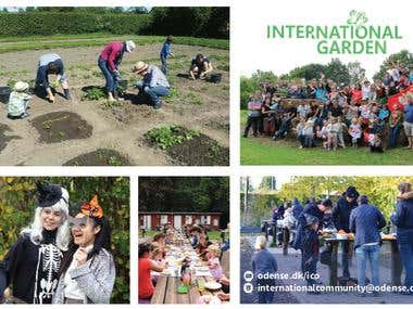 Post card for International Garden