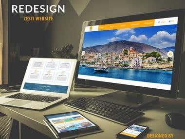 Redesign Zesti Website