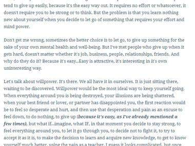 Something little I did when I started my blog.