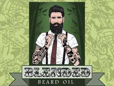 Blended Beard Oil .