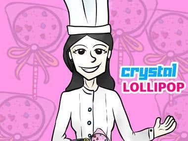 Crystal Lollipop cartoon marketing