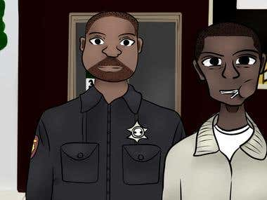 The wire book illustration
