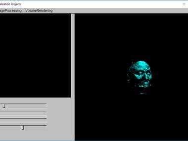 Volume Rendering, OpenGL C++, FLTK