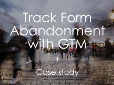 Track Form Abandonment With Google Tag Manager