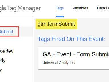 Tracking Form Submissions with Google Tag Manager