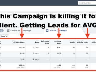 Killer FB AD getting Leads for $0.75