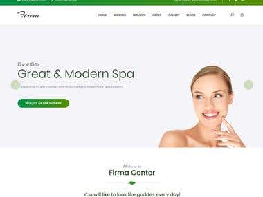 Spa and Beauty HTML Website