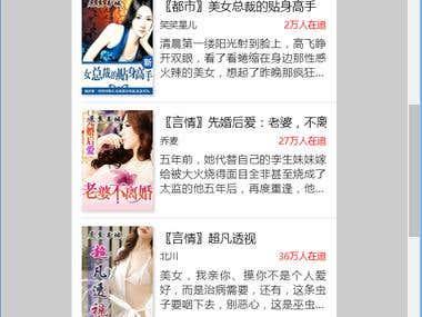 China novel system