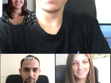 WebRTC Video chatting room