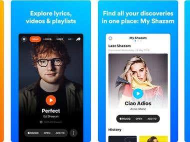 Shazam Video & Audio edit/play application